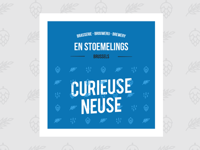 En Stoemelings Brewery - label research belgium brussels icon blue drink beer research identity brand label