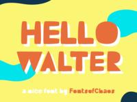 Hello Walter - Fonts