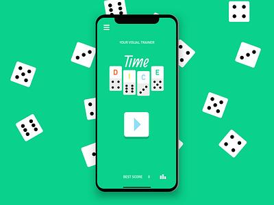 Time Dice - Mobile Games - Brain trainer ux design games app apps indie game brain game fun graphic mobile games ui design mobile game illustration game art game design