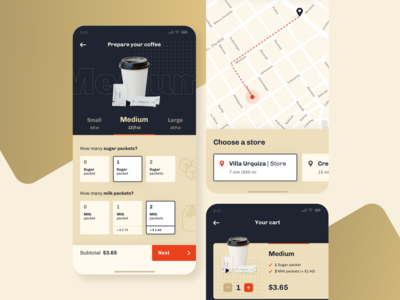 Coffe delivery app     UI