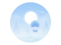 spill rays mood lonely balloon illustration dream