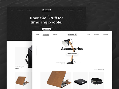 Uberstuff. Premium shop with exclusive stuff.