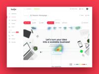 Hotjar Heatmap Dashboard Concept