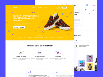 Shopify Sale Boosting App Landing Page