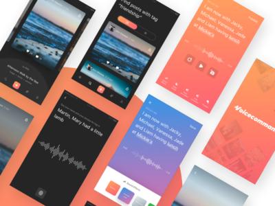 Voice Social Mobile App tale effects audio prototype ios app mobile social voice
