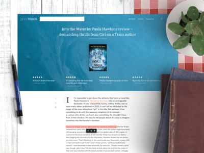Goodreads Article Redesign