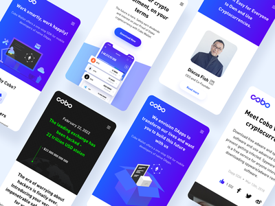 COBO - Secure crypto wallet mobile website mobile responsive rwd ux ui landing page website dapps blockchain wallet cryptocurrency