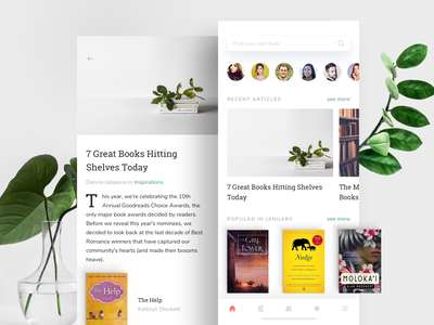 Goodreads iOS application user interface books goodreads ios mobile app ui