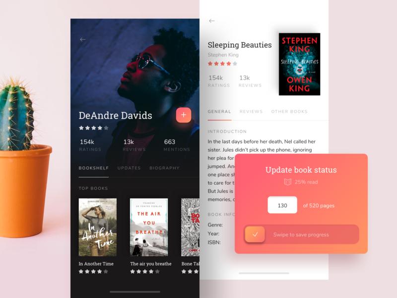 Goodreads iOS application author profile ui app mobile ios goodreads books user interface