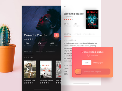 Goodreads iOS application author profile ui app mobile ios goodreads books user interface