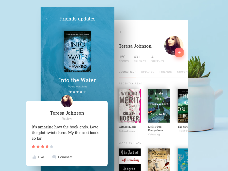 Goodreads iOS application friends updates ui app mobile ios goodreads books user interface
