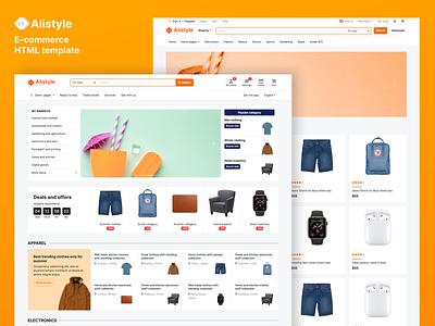 Marketplace e-commerce template marketplace html template website ecommerce design