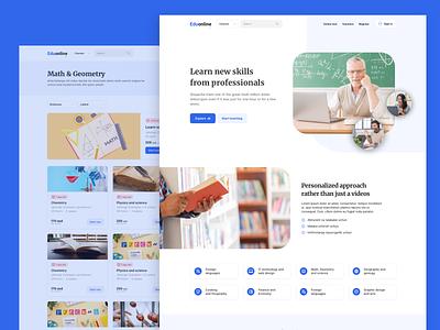 Online courses website design webdesign website education landing page education website education