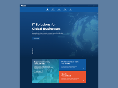 Home page design for IT company software company home page design landing page web design website it company