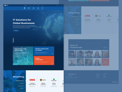 IT company website website web design dark website it company software company landing page design
