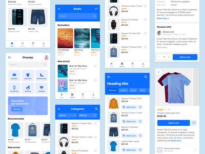 E-commerce mobile app designs online store commerce products page shopping app mobile app ecommerce app design ecommerce app e-commerce shop e-commerce app