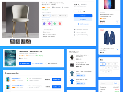 E-commerce elements website components ecommerce design e-commerce design e-commerce web design shopping website ui ux uikit ecommerce
