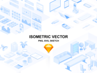 Isometric illustration (devices, interior, web, office)