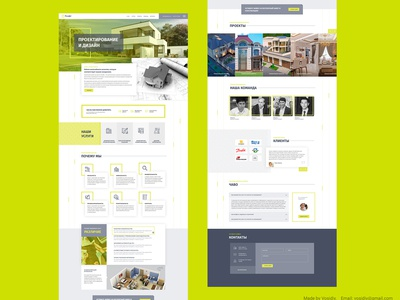 Creative landing page for architectural company