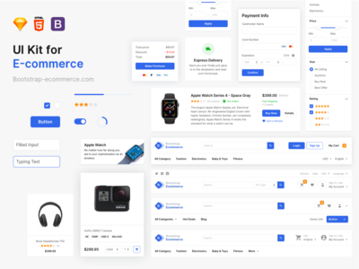 E-commerce UI kit for designers and developers