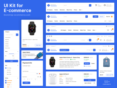 UI kit for e-commerce projects