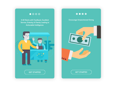 Android and iPhone app app mobile android iphone onboarding