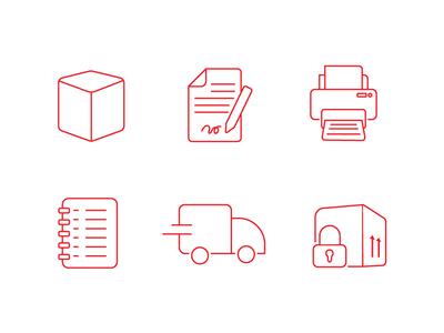 icons design for storage services storage icon