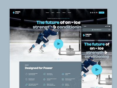 Power Sled - ice hockey training tool playbutton dust shop animation principle microsite hockey ice hockey