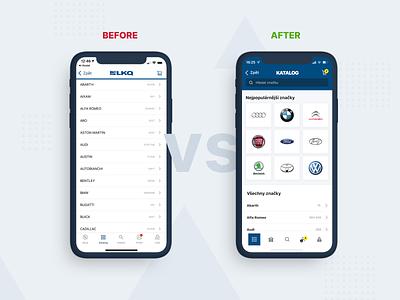 LKQ mobile app - comparsion animation illustration design sketchapp shop ux cars mobile app