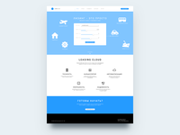 Leasing Cloud Home Wireframe