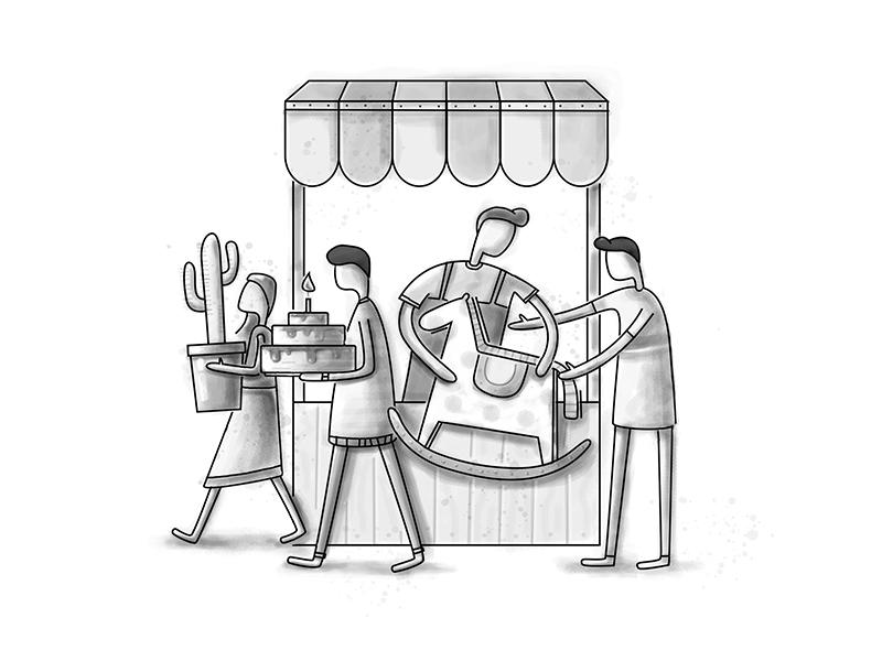 Projects clients cake cactus horse queue shop store