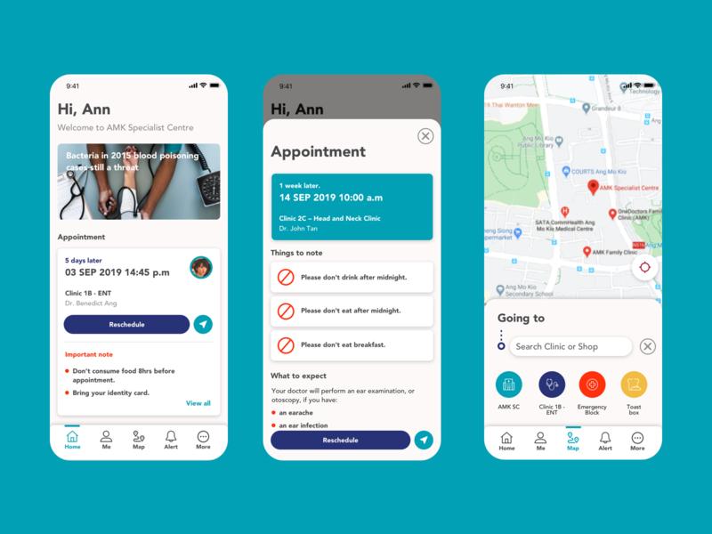 Hospital app UI concept