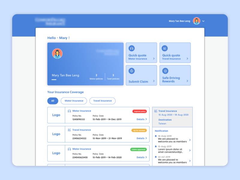 Insurance Website Concept