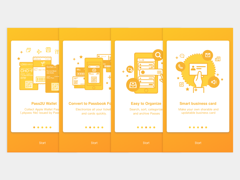 Pass2U Wallet Onboarding by YIYUN LIN on Dribbble