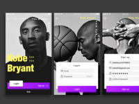 Daily UI Design Challenge  / Kobe Bryant Fan App
