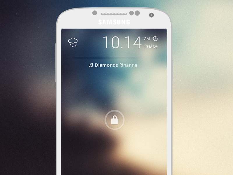 Android Launcher graphicure android launcher galaxy s4 google lock screen lock android screen ui ux
