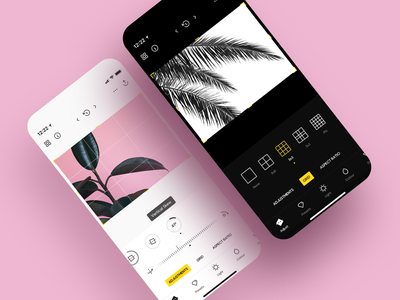 Photo Editor • clean minimal dark mode dark photography ios app design camera ios app ios photo editor photo