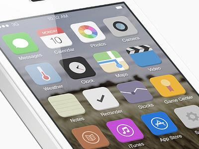 A better iOS 7 ios7 ios7 mockup ios apple ios 7 mockup mockup home ios 7 home ios7 home graphicure