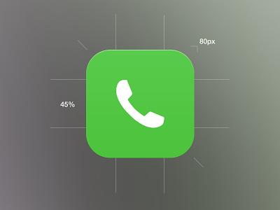 iOS 7 Phone Icon ios7 phone icon ios apple ios 7 mockup mockup phone ios 7 phone icon graphicure