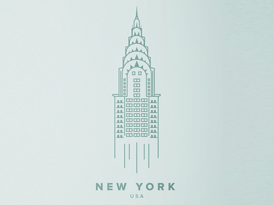 New York Illustration new york illustration nyc poster chrysler building illustrated city