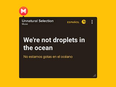 FloatingLyrics with Translations android musixmatch translation translate lyrics floating