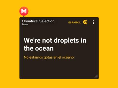 FloatingLyrics with Translations