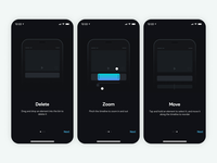 Splice Features Tutorial loop animation onboarding ui ios dark ui tutorial onboarding video maker image instagram video tool video editor video