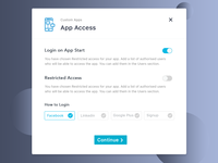 App Access Popup