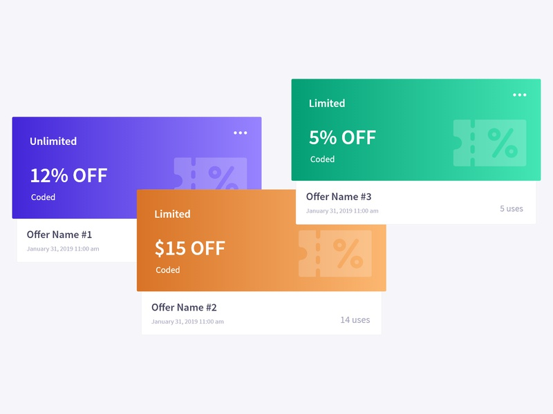 Ticket Discount Card discount offer offers dashboard ui ticket ticket design discount discount voucher discount code discount card tickets ticketing dashboard design dashboard ux ui design