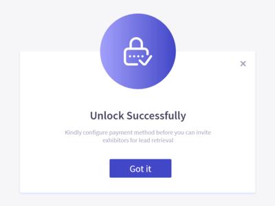 Unlock Success Popup success unlock popup dashboard design success message unlock creative ui design graphics photoshop ux ui design