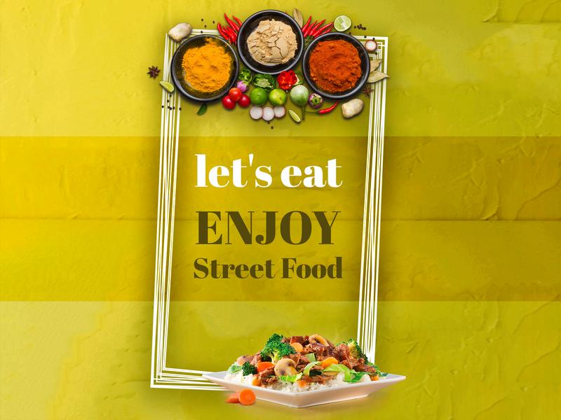 Food Ad advertising banner ad banner design food app ui food app food and drink food foodie vector logo design logo branding illustrator creative mockup photoshop graphics design