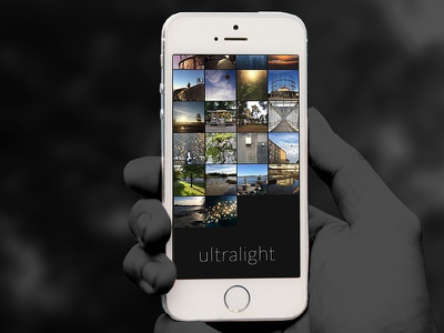 Ultralight - iOS Photo Editor user experience user interface ux ui editing interaction iphone ios mobile mobile photography photography photo