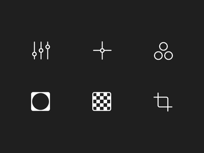 Ultralight - Editing icons user experience user interface ux ui editing interaction iphone ios mobile mobile photography photography photo