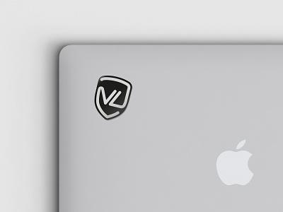 VPNLUX®. Sticker. white black flat minimal brand branding maicle yukhtenko mike vpnlux logotype sticker